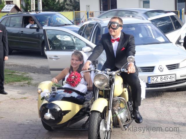 Motocyklem do ślubu!! Zabytkowa Pannonia z koszem.
