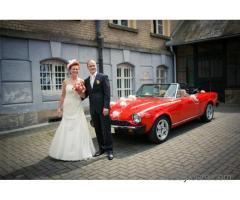 Zabytkowy Pininfarina 124 Spider do ślubu