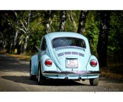 Oryginalny klasyczny VW garbus do ślubu