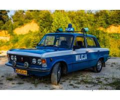 FIAT 125p MILICJA - wynajem na śluby, imprezy