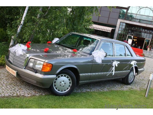 MERCEDES W126 SEL S-KLASA LONG samochód do ślubu